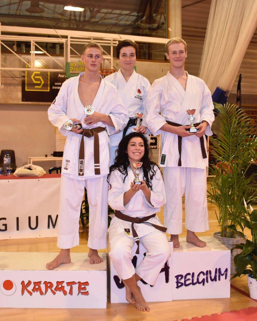 Belgisch JKA kampioenschap podium