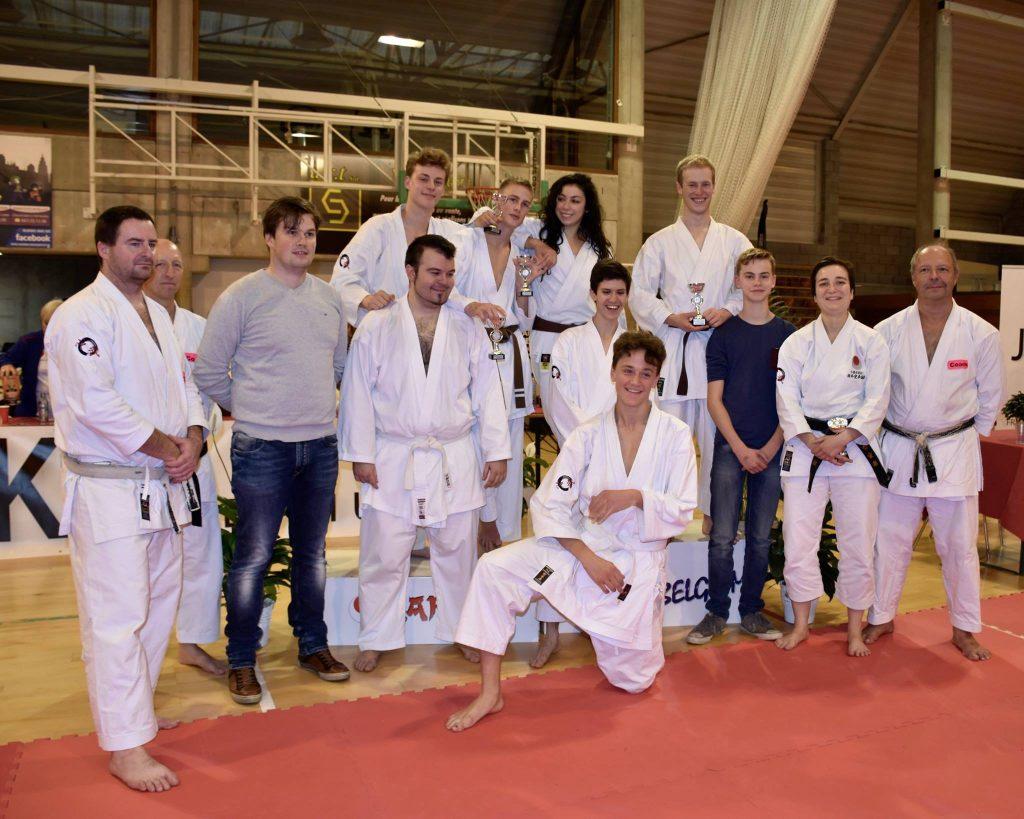 Belgisch JKA kampioenschap groepsfoto